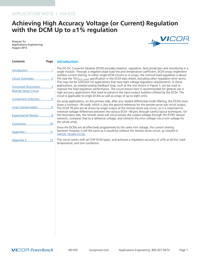 Achieving High Accuracy Voltage Or Current Regulation The Is Determined By Formula Out V Vref R2
