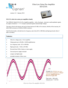 Datasheet for EO-LNA