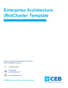 Enterprise Architecture (Re)Charter Template