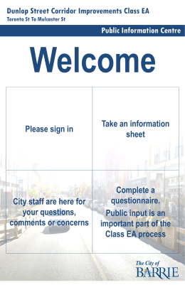 Info Boards - City of Barrie