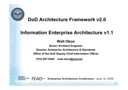 DoD Architecture Framework v2.0 Information Enterprise