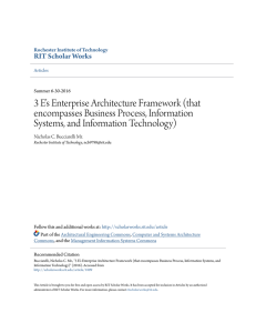 3 E`s Enterprise Architecture Framework (that