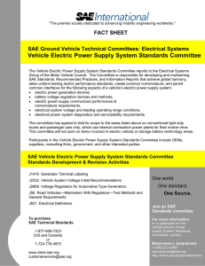Vehicle Electric Power Supply System Standards