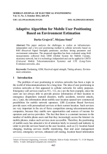 Adaptive Algorithm for Mobile User Positioning