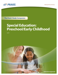 Special Education: Preschool/Early Childhood