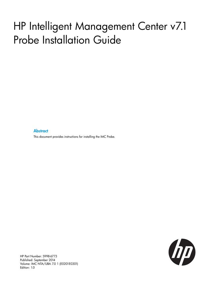 HP Intelligent Management Center v7 1 Probe Installation Guide