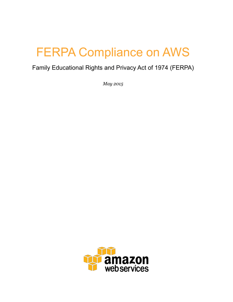 Ferpa Compliance On Aws