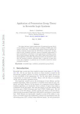 arXiv:1507.04309v5 [cs.ET] 8 Jul 2016