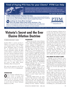 Victoria`s Secret and the Ever Elusive Dilution Doctrine