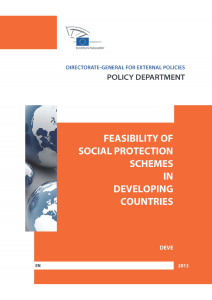 Feasibility of social protection schemes in developing countries