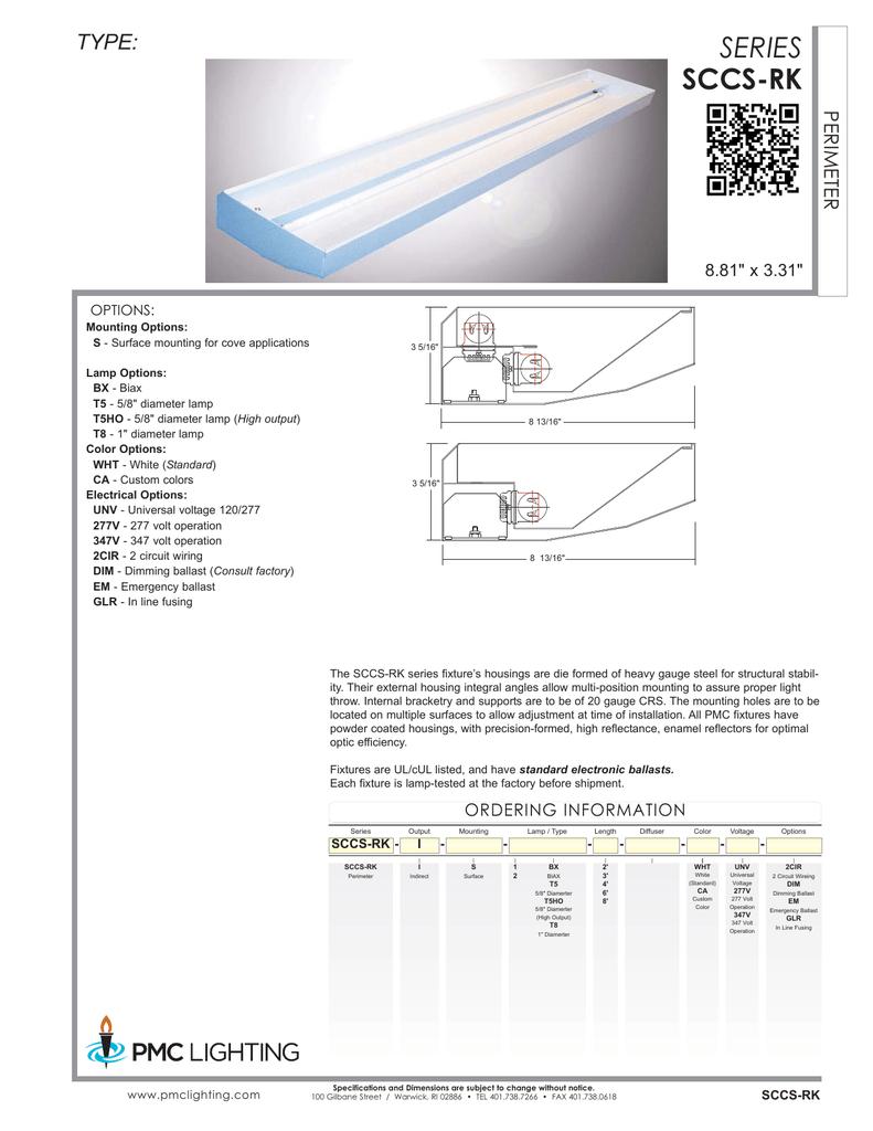 Specification Sheet 277 Volt Ballast Wiring Diagram