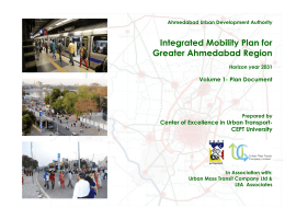 Integrated Mobility Plan for Greater Ahmedabad