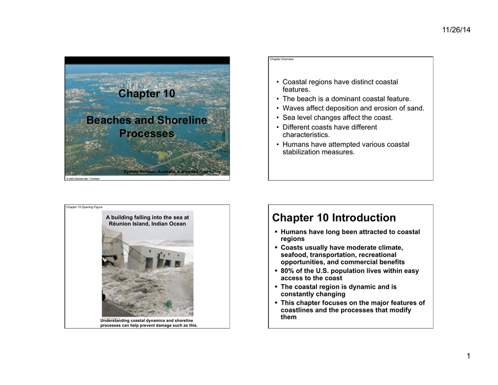 Chapter 10 Beaches and Shoreline Processes Chapter 10