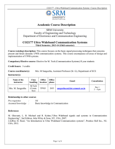 CO2177 Ultra Wideband Communication Systems