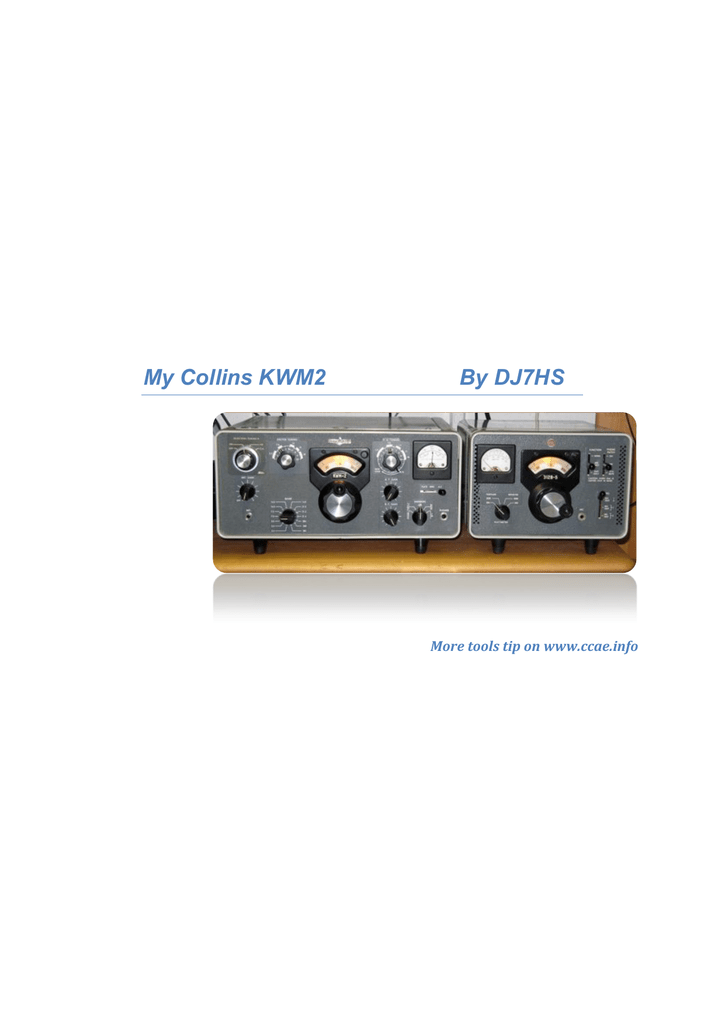 COMPLETE  TUBE  KIT  FOR  COLLINS  KWM-1