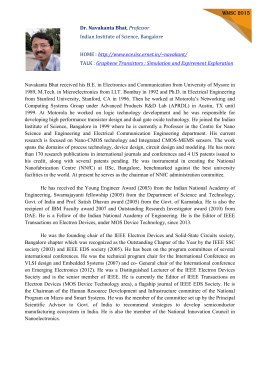 Prof. Navakanta Bhat IISc Bangalore