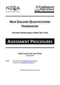 assessment procedures - Cashmere High School
