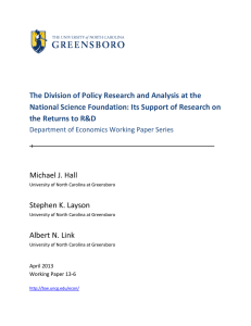 The Division of Policy Research and Analysis at the National