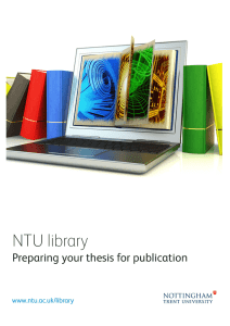 Preparing your thesis for publication