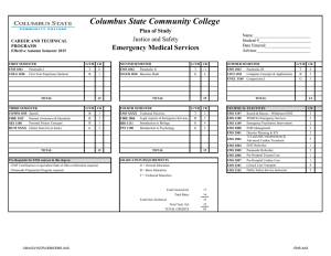 Emergency Medical Services - Columbus State Community College