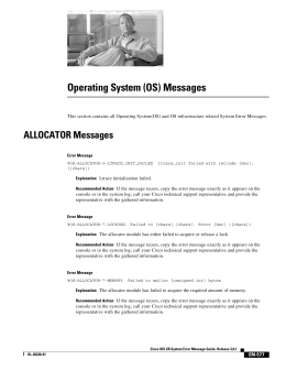(OS) Messages