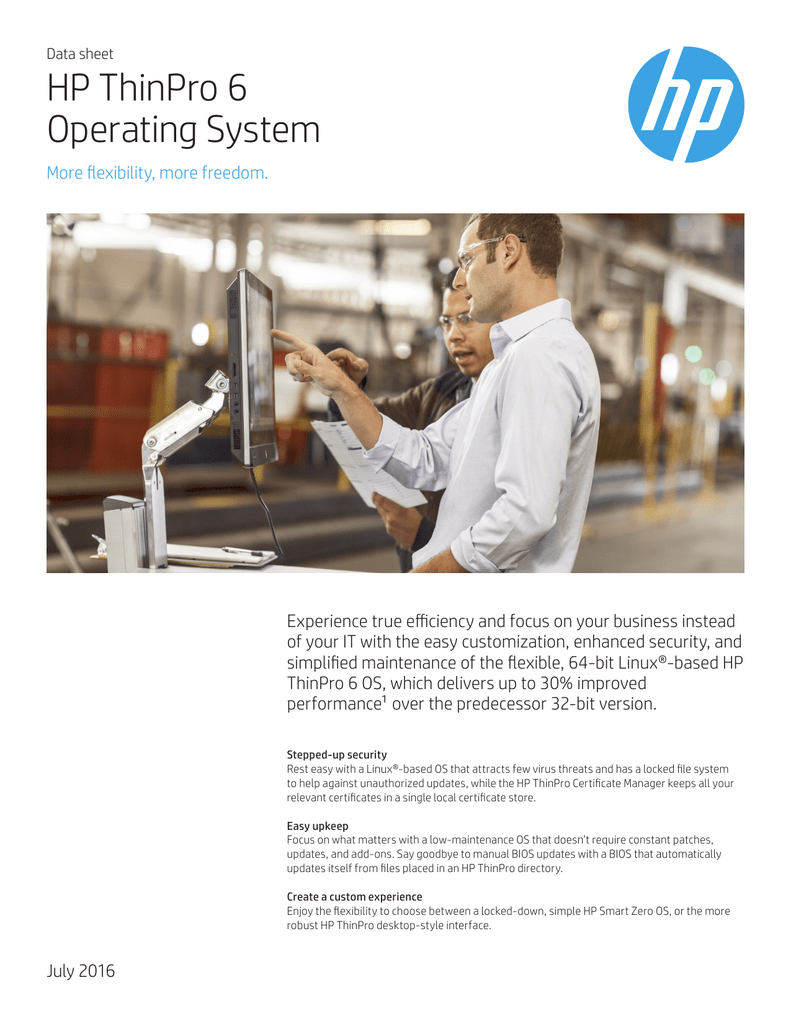 HP ThinPro 6 Operating System