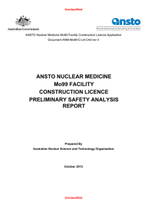 ANM-Mo99-C-LA-C4d Preliminary Safety Analysis Report