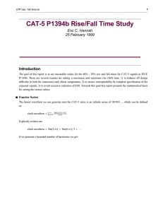 CAT-5 P1394b Rise/Fall Time Study (updated 3/2/1999)