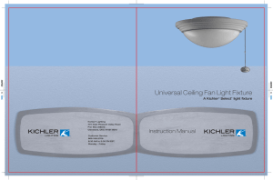 Universal Ceiling Fan Light Fixture