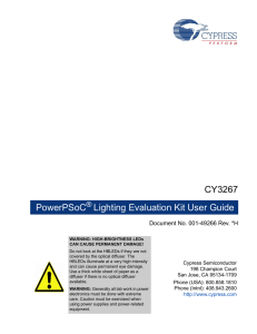 CY3276 PowerPSoC Lighting Evaluation Kit Guide