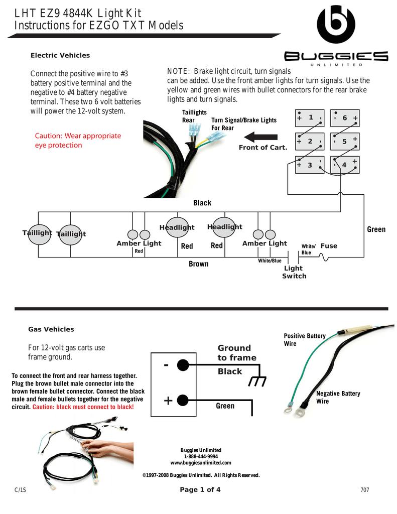 westinghouse light kit wiring diagram, yamaha light kit wiring diagram, ezgo light kit installation, bad boy light kit wiring diagram, on ezgo light kit wiring diagram