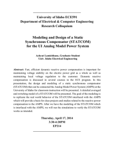 Modeling and Design of a Static Synchronous Compensator