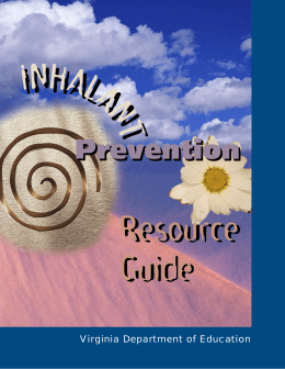 Inhalant book - National Inhalant Prevention Coalition
