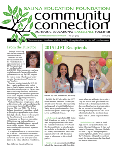2015 LIFT Recipients - Salina Education Foundation