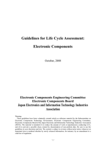 Guidelines for Life Cycle Assessment: Electronic Components