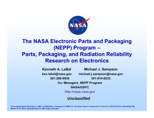 Parts, Packaging, and Radiation Reliability Research on Electronics