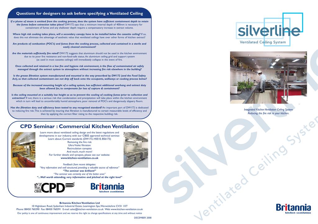 Silverline Brochure Kitchen Ventilation