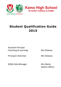 Student Qualification Guide 2015
