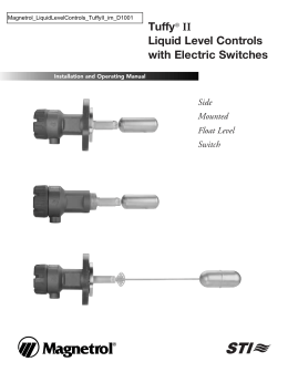 Tuffy® II Liquid Level Controls with Electric Switches