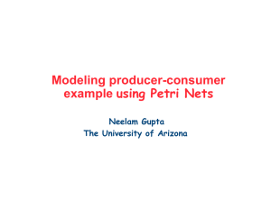 Modeling producer-consumer example using Petri Nets