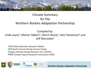 Climate Summary for the Northern Rockies Adaptation Partnership