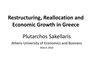 Keynote address by Plutarchos Sakellaris, Professor at Athens