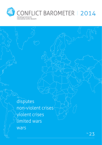 disputes non-violent crises violent crises limited wars