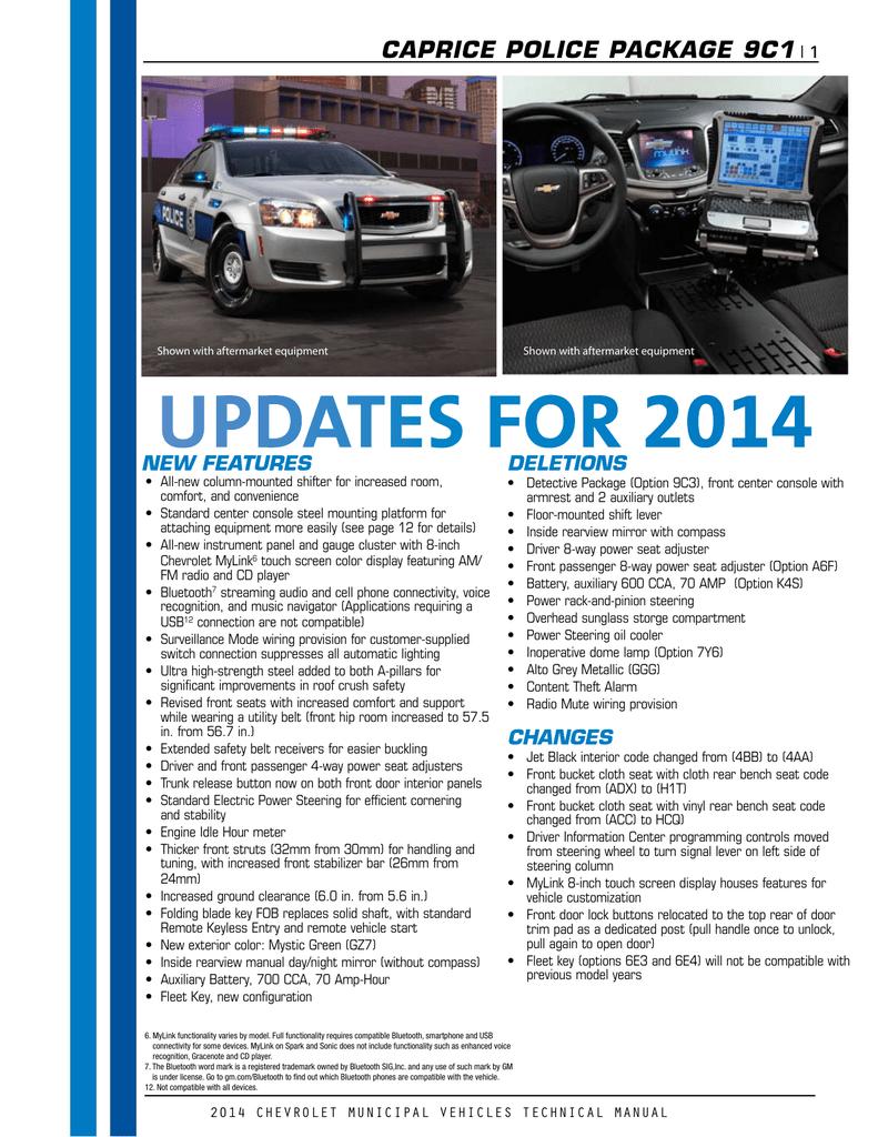 2014 municipal caprice guide rh studylib net 2015 Chevrolet Vehicles Reliable Cars 2014