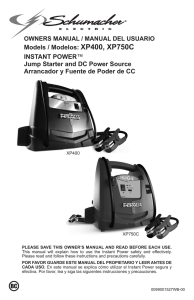 XP400, XP750C INSTANT POWER™ Jump Starter and DC Power