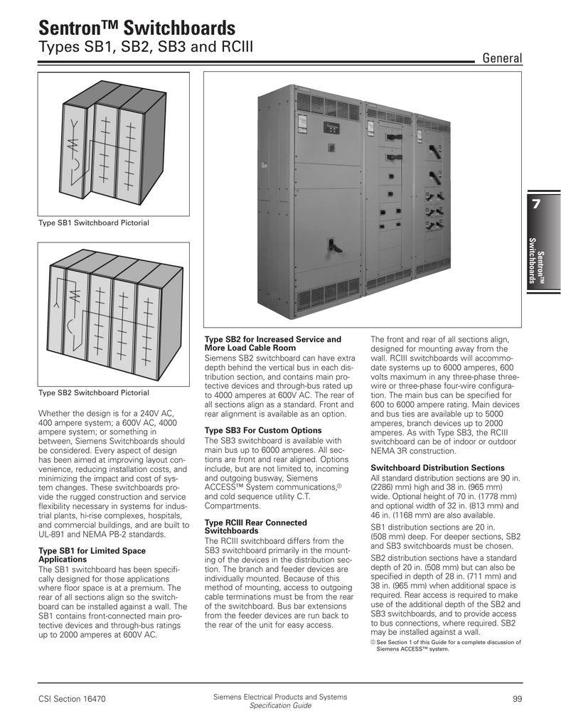 Sentron™ Switchboards