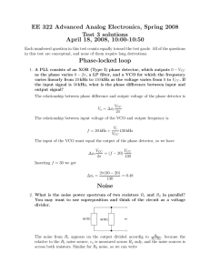 EE 322 Advanced Analog Electronics, Spring 2008 Test 3 solutions