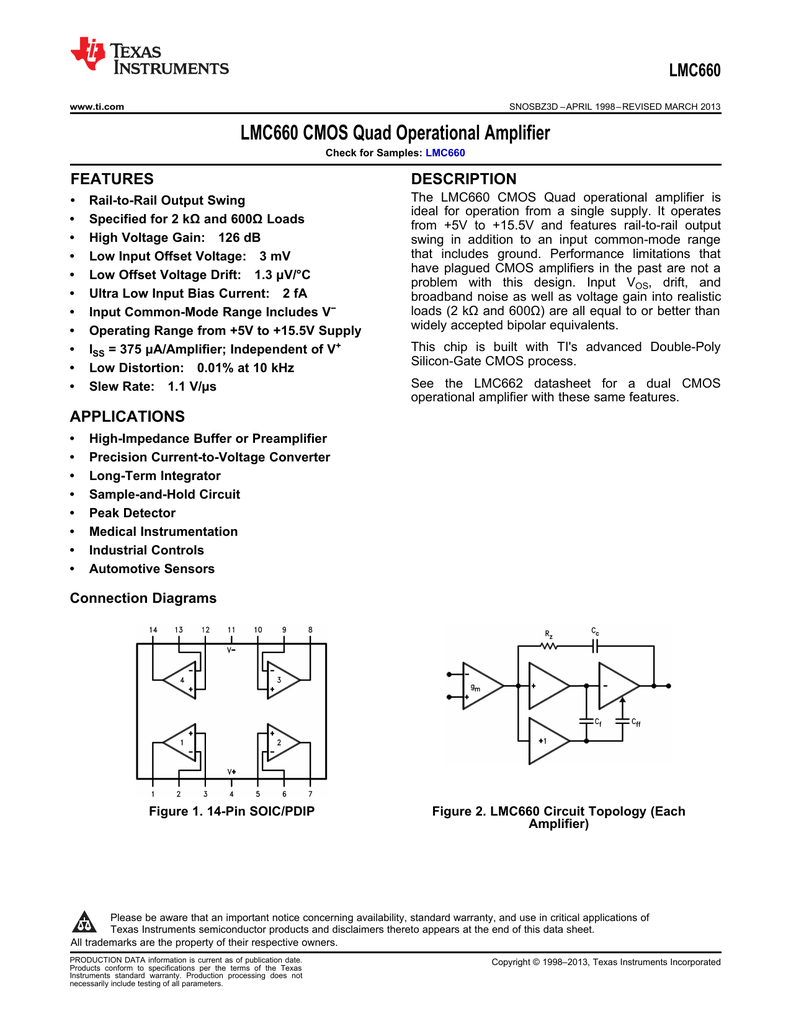 Opamp Having Lm324 Simple Circuit Uses Only One Section Of Lm324 Quad