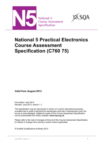 National 5 Practical Electronics Course Assessment