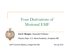 Four Derivations of Motional EMF